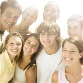 Group of Smiling Teens